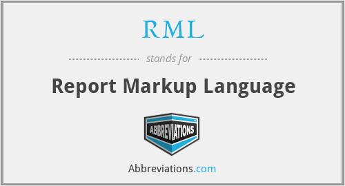 RML - Report Markup Language