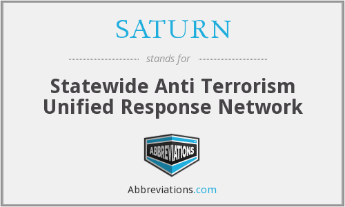 SATURN - Statewide Anti Terrorism Unified Response Network
