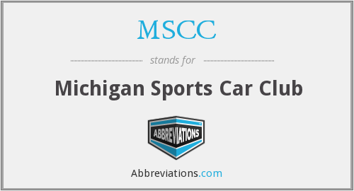 MSCC - Michigan Sports Car Club
