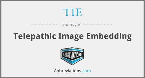TIE - Telepathic Image Embedding