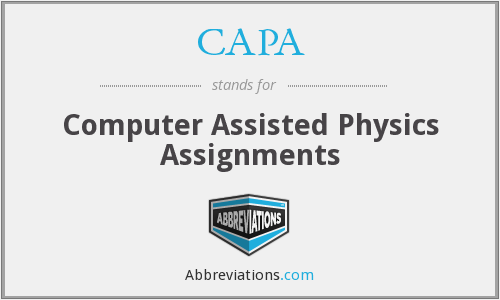 CAPA - Computer Assisted Physics Assignments