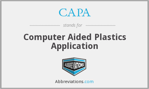 CAPA - Computer Aided Plastics Application