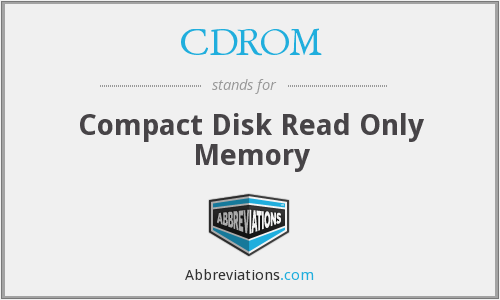 What does CDROM stand for?
