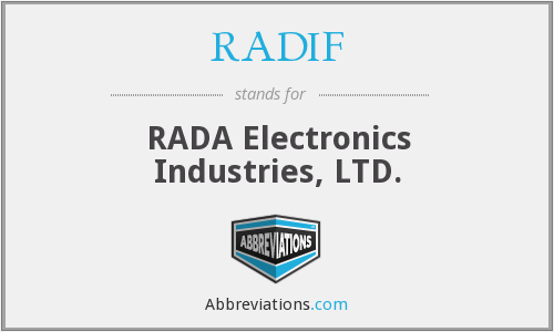 What does RADIF stand for?