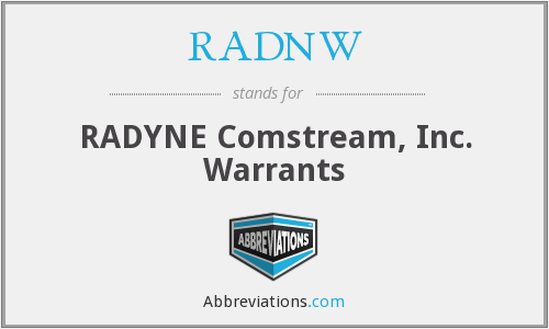 What does RADNW stand for?