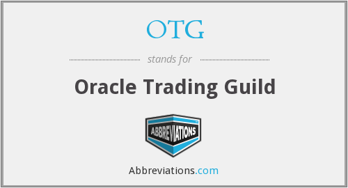 OTG - Oracle Trading Guild