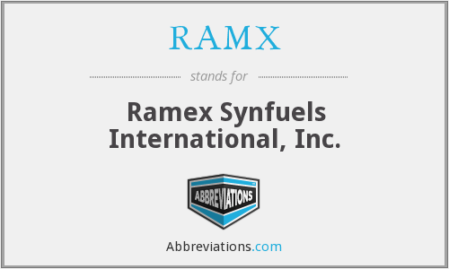What does RAMX stand for?