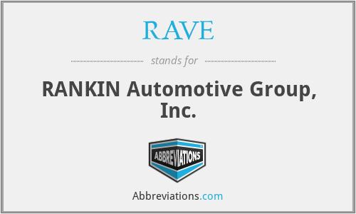 RAVE - RANKIN Automotive Group, Inc.