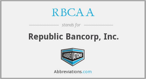 What does RBCAA stand for?