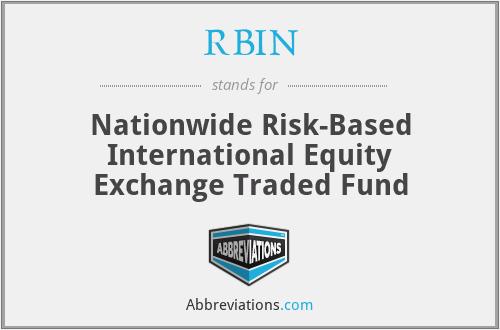 RBIN - R & B, Inc.