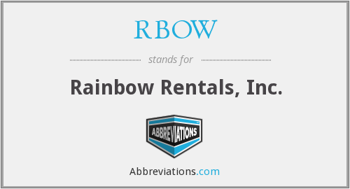 What does RBOW stand for?