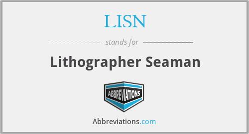 LISN - Lithographer Seaman