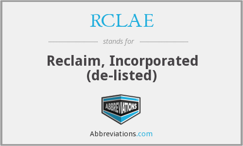What does RCLAE stand for?