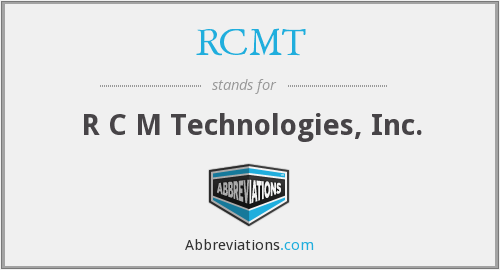 What does RCMT stand for?