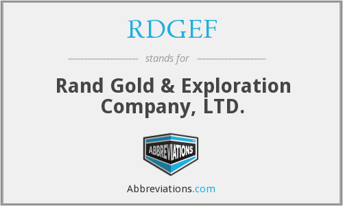 What does RDGEF stand for?