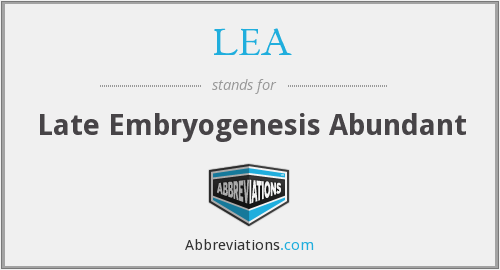LEA - Late Embryogenesis Abundant