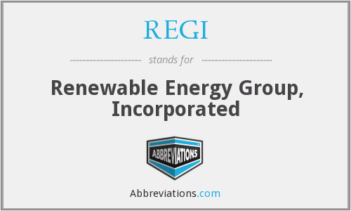 What does REGI stand for?