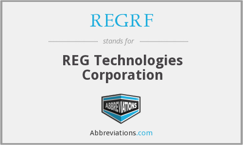REGRF - REG Technologies Corporation