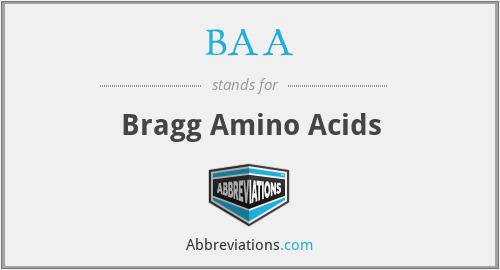 BAA - Bragg Amino Acids