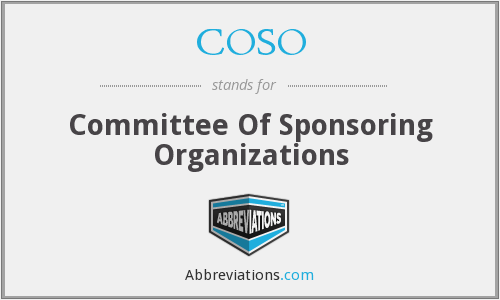 What does COSO stand for?