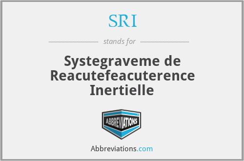 SRI - Systegraveme de Reacutefeacuterence Inertielle