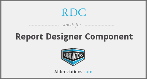 RDC - Report Designer Component