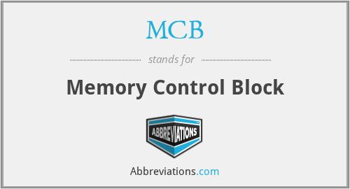 MCB - Memory Control Block