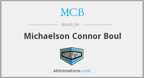 MCB - Michaelson Connor Boul