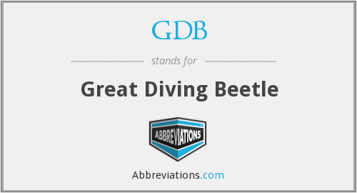 GDB - Great Diving Beetle