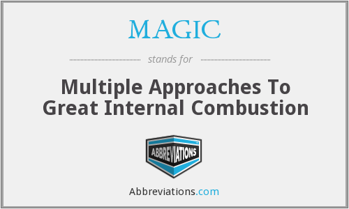 MAGIC - Multiple Approaches To Great Internal Combustion