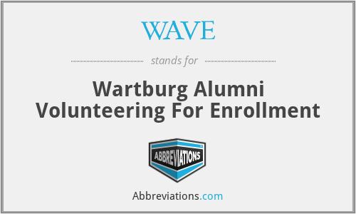 WAVE - Wartburg Alumni Volunteering For Enrollment