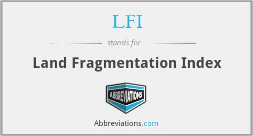 LFI - Land Fragmentation Index
