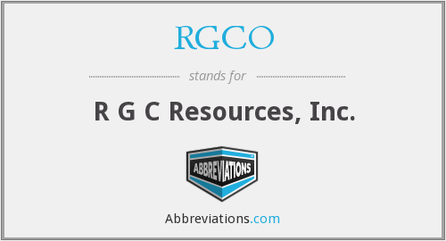 RGCO - R G C Resources, Inc.