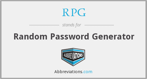 RPG - Random Password Generator