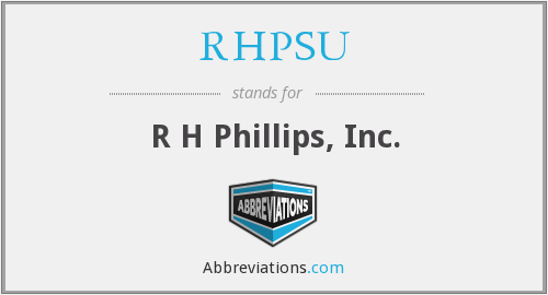 What does RHPSU stand for?