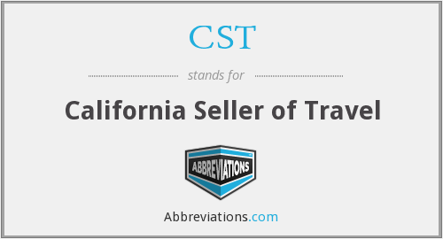 CST - California Seller of Travel