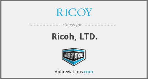 What does RICOY stand for?