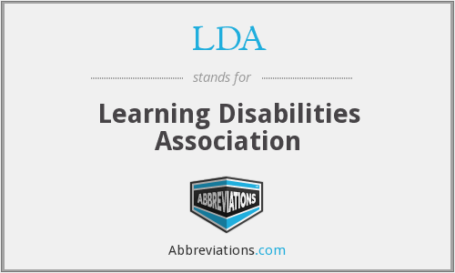 LDA - Learning Disabilities Association