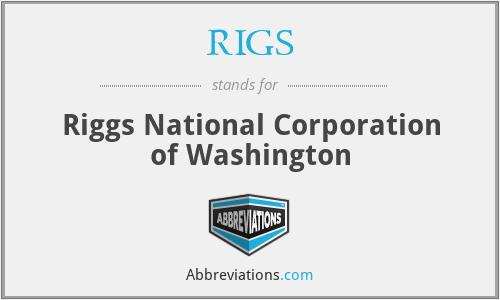 RIGS - Riggs National Corporation of Washington