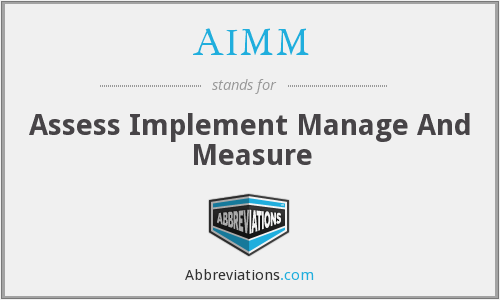 AIMM - Assess Implement Manage And Measure