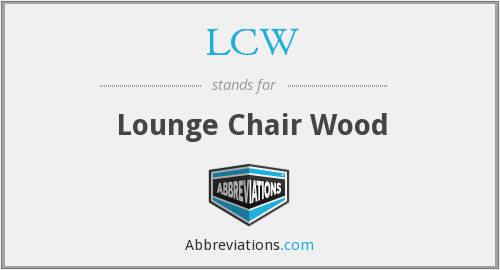 LCW - Lounge Chair Wood