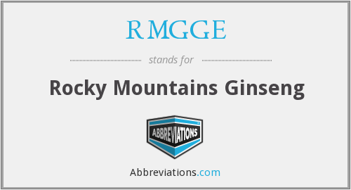 RMGGE - Rocky Mountains Ginseng