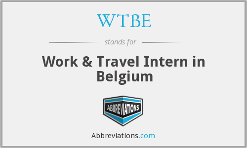 WTBE - Work & Travel Intern in Belgium