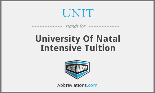 UNIT - University Of Natal Intensive Tuition