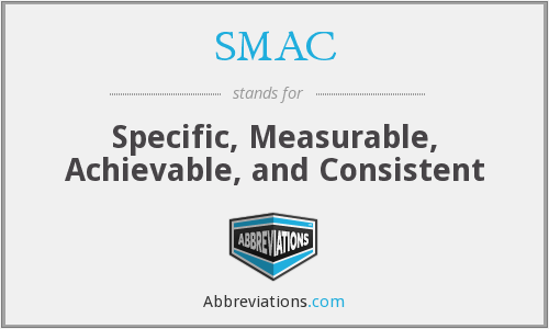 SMAC - Specific, Measurable, Achievable, and Consistent