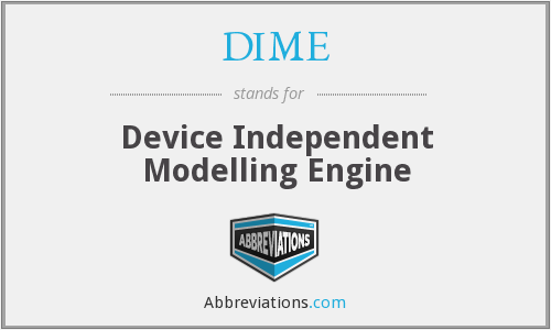 DIME - Device Independent Modelling Engine