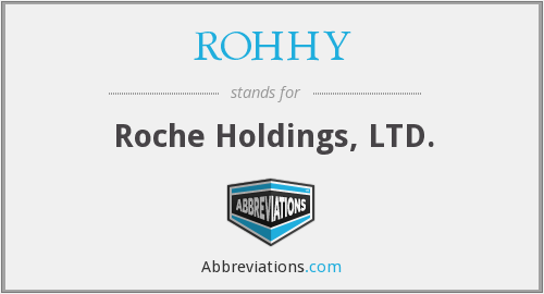 ROHHY - Roche Holdings, LTD.