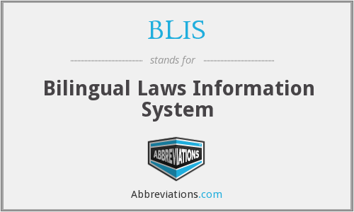 BLIS - Bilingual Laws Information System