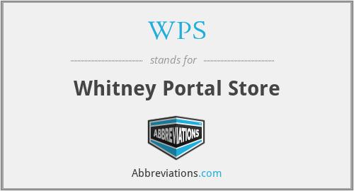 WPS - Whitney Portal Store