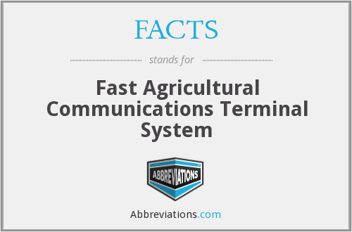 FACTS - Fast Agricultural Communications Terminal System
